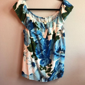 Anthropologie Ruffled Off The Shoulder Top